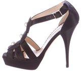 Oscar de la Renta Embellished Multistrap Sandals