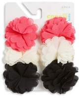 Capelli New York Girl's Six-Pack Flower Clip Set