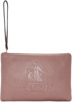 Lanvin Pink Logo Pouch