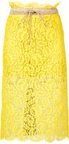Sacai Floral Lace Midi Skirt