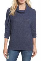 Caslon Fuzzy Cowl Neck Sweatshirt (Petite)