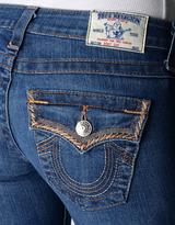 True Religion Womens Hand Picked Bootcut Wflaps Silk Khaki Decor Jean