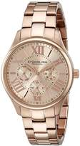 Stuhrling Original Symphony Regent Lady Majestic Women's Quartz Watch with Rose Gold Dial Analogue Display and Rose Gold Plated Stainless Steel Bracelet 391L.04