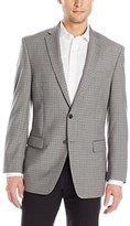 Calvin Klein Men's Malik Light Grey Plaid Two-Button Sport Coat