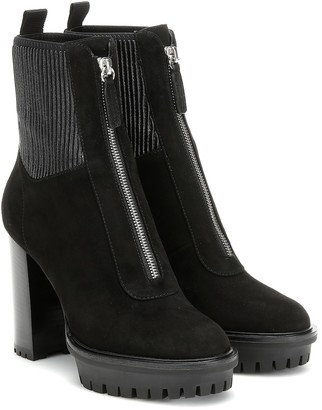 Gianvito Rossi Mason suede ankle boots