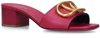 Valentino Leather Vintage Slides 45