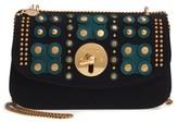 See by Chloe Embellished Leather Shoulder Bag - Blue