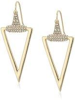 """ABS by Allen Schwartz Rebel Soul"""" Triangle Gold/Crystal Drop Earrings"""