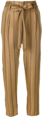 Forte Forte pinstriped high-waisted trousers