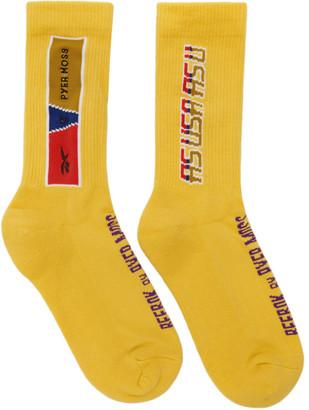 Reebok by Pyer Moss Black Logo Socks