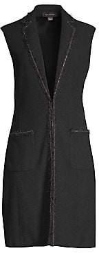 St. John Women's Boucle Stretch Wool Knit Vest