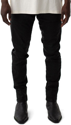 Purple Men's Coated Denim Slim-Fit Jeans