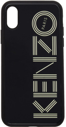 Kenzo Black Glow-In-The-Dark Logo iPhone X/XS Case