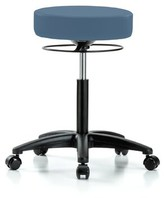 """Height Adjustable Medical Stool Perch Chairs & Stools Finish: Black, Upholstery: Newport Fabric, Size: 28.5"""" H"""