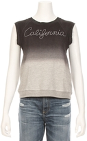 Sundry Sleeveless California Emborider Ombre Sweatshirt