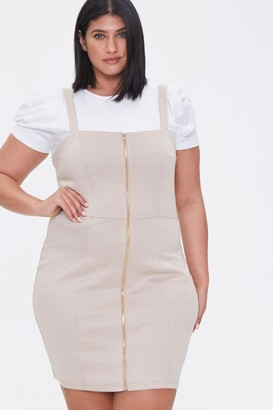 Forever 21 Plus Size Zippered Pinafore Dress