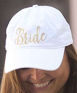 Viv&Lou Women's Baseball Caps White - White 'Bride' Embroidered Baseball Cap