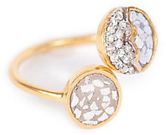 Raina Ring - Shana Gulati - gold/silver