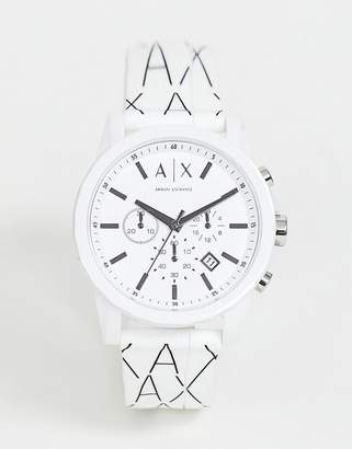 Armani Exchane AX1340 Outerbanks silicone chronograph watch 44mm
