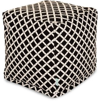 Majestic Home Goods Bamboo Indoor/Outdoor Ottoman Pouf Cube