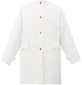 Kassl Editions Oil Padded Cotton-blend Coat - White