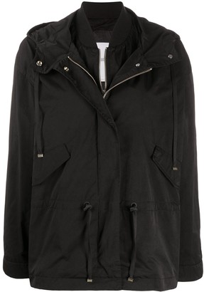 Closed Layered Hooded Jacket