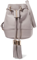 See by Chloe Vicki Textured-leather Bucket Bag - Gray
