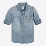 J.Crew Factory Classic chambray shirt in perfect fit