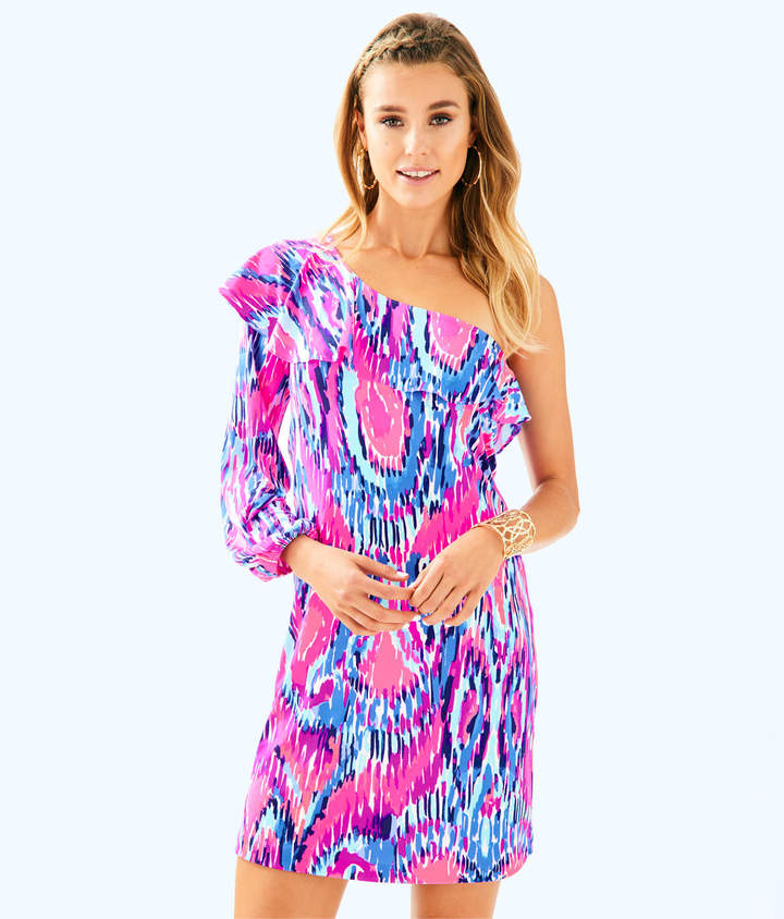 Lilly Pulitzer Womens Amante Silk Jersey Dress
