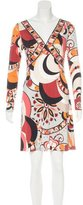 Emilio Pucci Silk Long Sleeve Dress