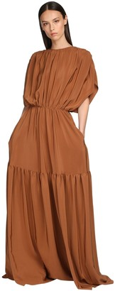 Rochas Long Crepe De Chine Tunic Dress