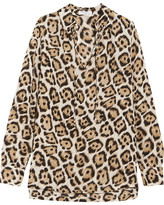 Equipment Bristol Leopard-print Silk Blouse - small