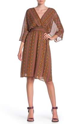 Dress Forum Boho 3/4 Sleeve Smocked Dress