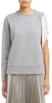 N°21 Women's N?21 Tassel Sleeve Sweatshirt