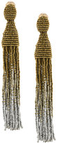 Oscar de la Renta beaded ombré tassel earrings