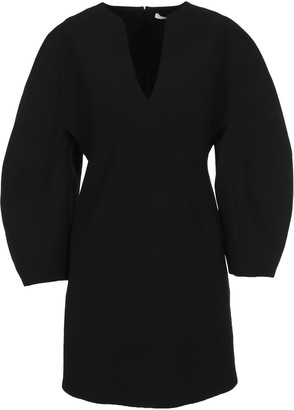 Givenchy Balloon Sleeved V-Neck Mini Dress