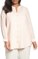 Eileen Fisher Plus Size Women's Organic Linen Shirt