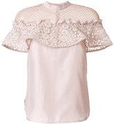 Self-Portrait lace insert blouse