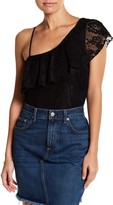 Socialite One Shoulder Lace Bodysuit