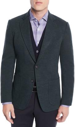 Isaia Men's Wool-Nylon Knit Blazer