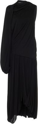 J.W.Anderson Single-Sleeve Draped Jersey Dress