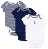 Little Me Baby Boys' 3-Pack Sailboat Bodysuits