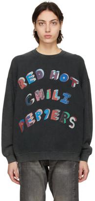 R 13 Black Oversized RHCP Flea Art Sweatshirt