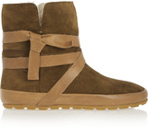 Etoile Isabel Marant Nygel leather and shearling ankle boots