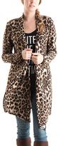 Brown Leopard Open Cardigan