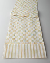 Mackenzie Childs MacKenzie-Childs Parchment Check Table Linens