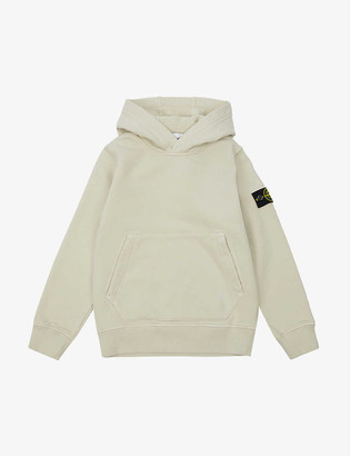 Stone Island Logo-embroidered cotton hoody 4-14 years