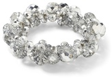 White House Black Market Silver Crystal Stretch Bracelet