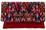 Fair Trade Cotton Clutch Bag from Guatemala, 'Chichicastenango Fantasy'