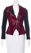 Roland Mouret Ponyhair Virgin Wool-Accented Jacket